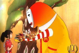千と千尋顔なしマクドナルド