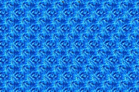 [立体視]青い花に浮かび上がる模様は?